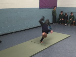 We learned how to do cartwheels and had great fun doing them!