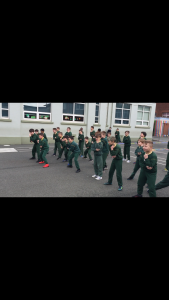 We performed the Haka Gaelach against Mr Carberry's class today!