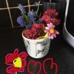 Rares' (Senior Infants) flower arrangement