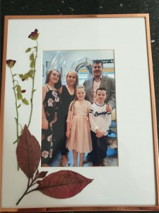 Adam Kearney's upcycled family photo- pressed flowers G3